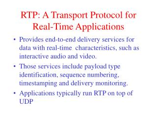 RTP: A Transport Protocol for Real-Time Applications