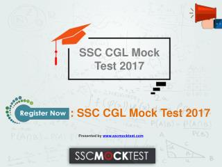SSC CGL Mock Test 2017: sscmocktest.com