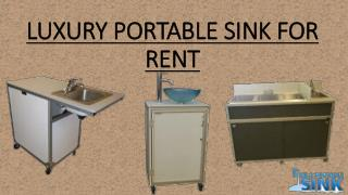 Luxury Portable Sink For Rent