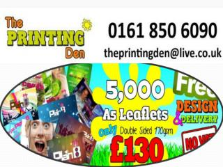 Leaflet Printing and Flyer Printing Service in Manchester