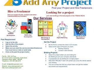 Find Web Developers Online | Add Any Project