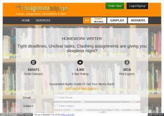 Homework Writer Online