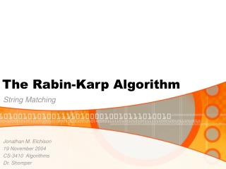 The Rabin-Karp Algorithm