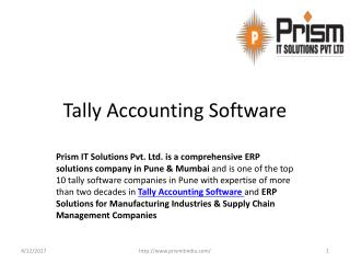 Tally Accounting Software@PrismIT