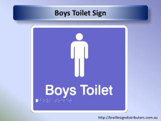 Boys Toilet Sign - Braille Sign Distributors