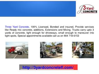Ready Mix Concrete Delivery Company, Masonry Jacksonville and St. Augustine FL