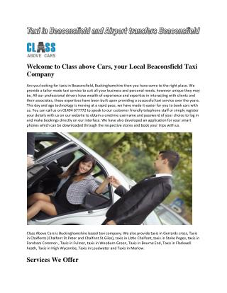 Taxi in Beaconsfield and Airport transfers Beaconsfield