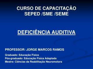 CURSO DE CAPACITA  O  SEPED