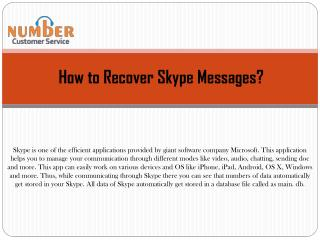 How to Recover Skype Messages?