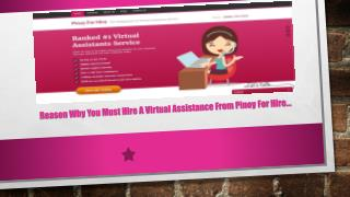 Reason Why You Must Hire A Virtual Assistance From Pinoy For Hire
