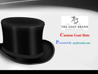 Custom Goat Hats