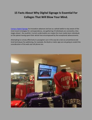 Campus Digital Signage- dynasign