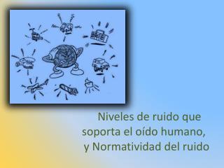 Niveles de ruido que             soporta el o do humano,                y Normatividad del ruido