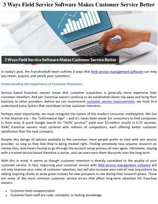 3 Ways Field Service Software Makes Customer Service Better