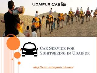 Cab Service for Sightseeing in Udaipur