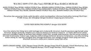 WA 0812 8899 4755 (Ibu Vani) FIFORLIF Riau HARGA MURAH