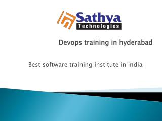 Devops training in hyderabad |Devops course content