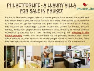 A Luxury Villa for Sale in Phuket By PhuketForLife