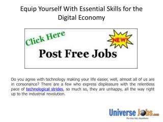 Equip Yourself With Essential Skills for the Digital Economy