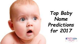 Top 5 Baby Names