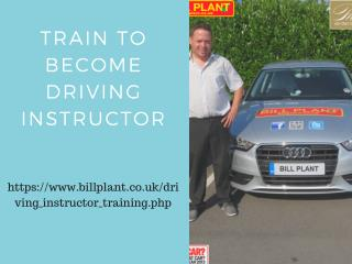 Train to Become driving instructor