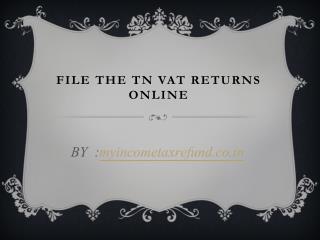 File the TN VAT Returns Online