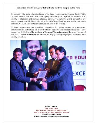 Education Excellence Awards Facilitate the Best People in the Field