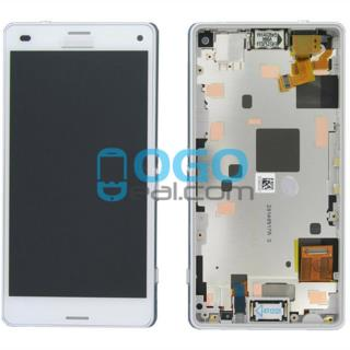 For Sony Xperia Z3 Compact/Z3 Mini LCD & Digitizer Touch Screen Assembly With Frame - White