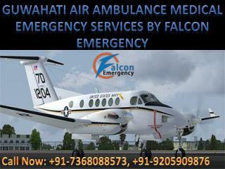 Advanced Life Support Air Ambulance Facility in Kolkata and Guwahati by Falcon Emergency