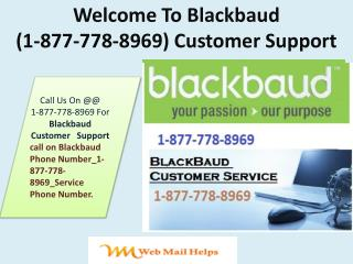 Chat Time Blackbaud |1877!778!8969| Customer Support Phone Number 247