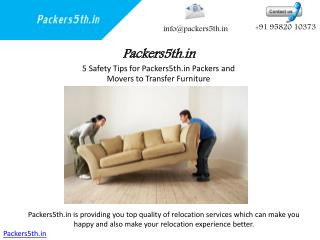 Packers5th.in Safety Tips  Wearing appropriate clothes and shoes move heavy furniture