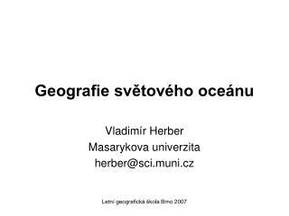 Geografie svetov ho oce nu