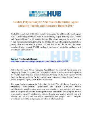 Global Polycarboxylic Acid Water-Reducing Agent Market Research Report 2017