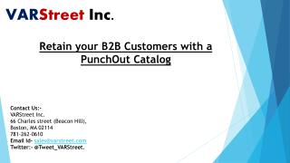 Retain your B2B Customers with a PunchOut Catalog