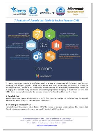 7 Features of Joomla that Make It Such a Popular CMS