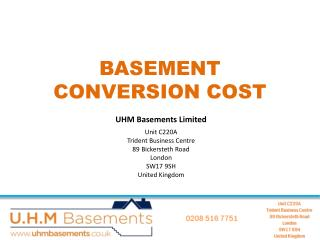The Cost of Basement Construction in London