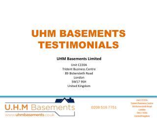 UHM Basements Cellar Conversion Reviews