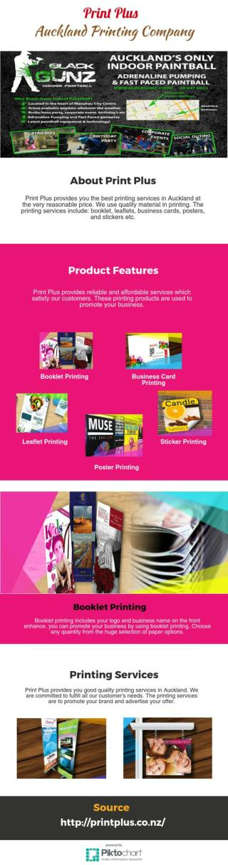 Booklet Printing From Print Plus