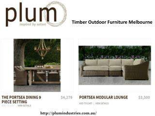 Timber Outdoor Lounge Melbourne