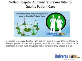 Skilled Hospital Administrators Are Vital to Quality Patient Care