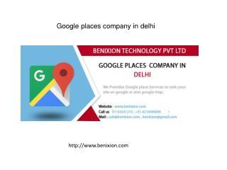 Google places company in delhi