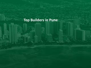 Top Builders in Pune