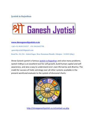 Jyotish in Rajasthan