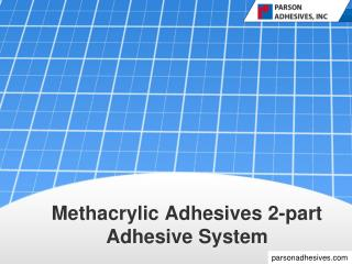 Structural adhesives - Parson Adhesives