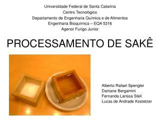 Universidade Federal de Santa Catarina Centro Tecnol gico Departamento de Engenharia Qu mica e de Alimentos Engenharia B
