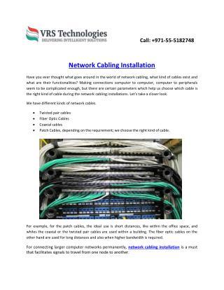 Understanding Network Cabling Installation