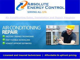 Air Conditioning Installation and Repair Vaughan