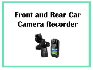 Front and Rear Car Camera Recorder