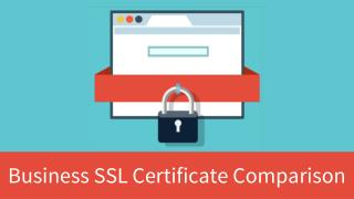 Business SSL Certificate Comparison