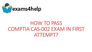 CAS-002 Real Exam Questions Answers